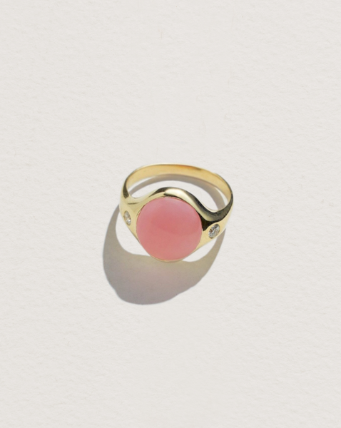 Pamela Love Pink Opal Essential Ring