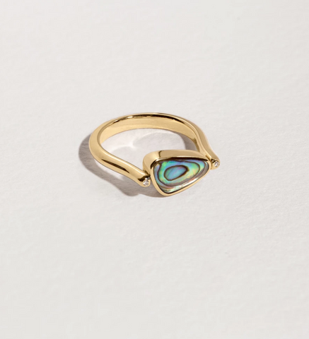 Rotating Pilar Ring in Gold