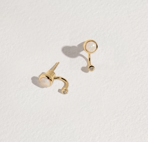 Gravitation Earrings in Gold