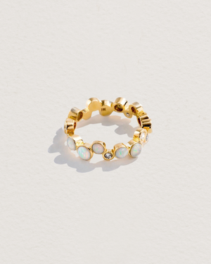 opal paillette band with diamonds
