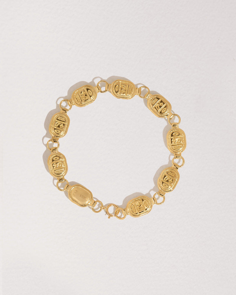 scarab bracelet made of 18k gold and diamonds