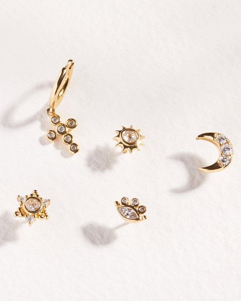 celestial diamond stud piercings by pamela love