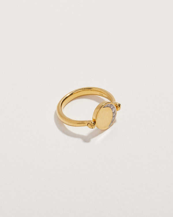 diamond moon phase ring