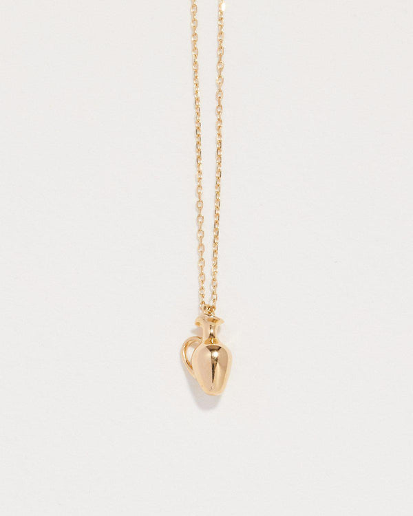 vessel pendant necklace with 14k yellow gold