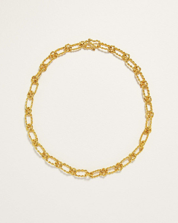 handmade gold plate chain link necklace