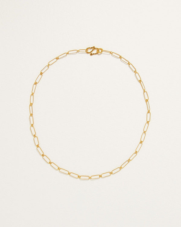 handmade gold annika chain necklace