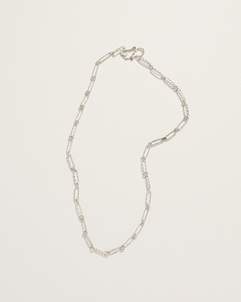 handmade sterling silver link necklace