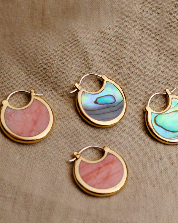 mojave hoop earrings by pamela love