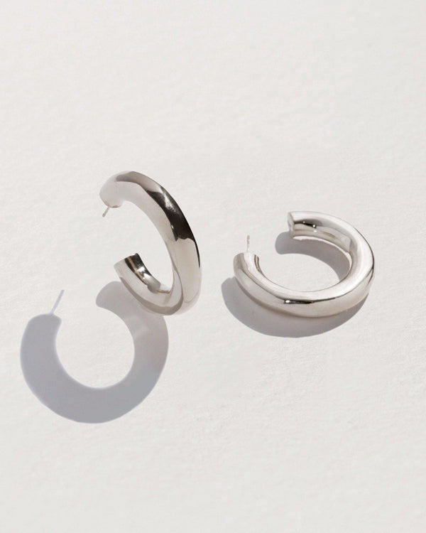 georgia hoop earrings with sterling silver