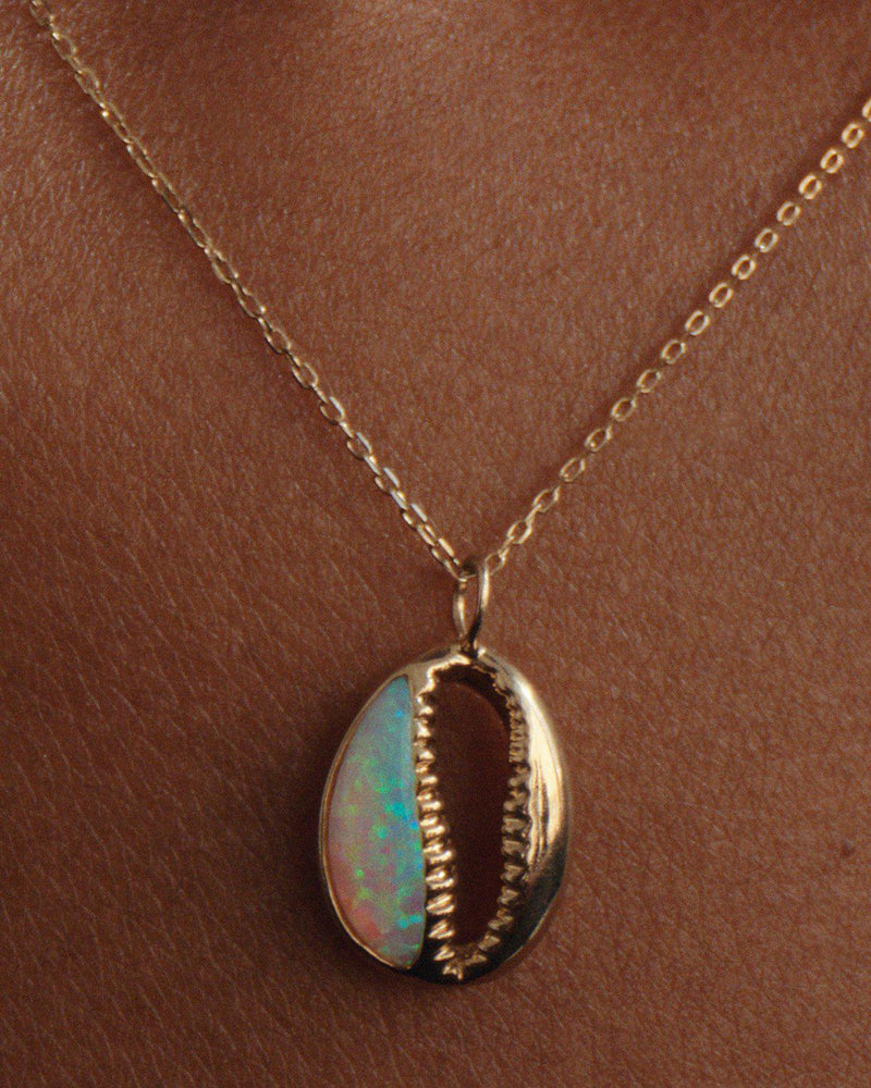 opal cowrie necklace by Pamela Love