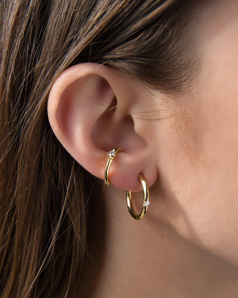 Floating Diamond Hoops