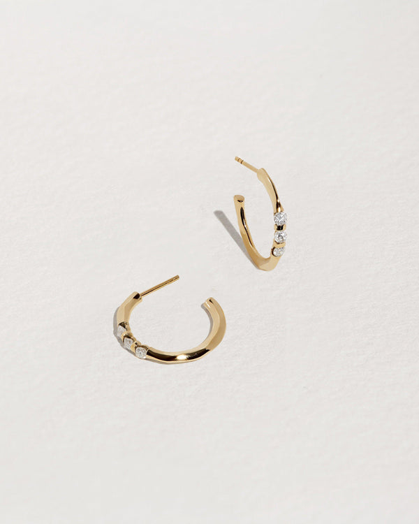 Multi Floating Diamond Hoops