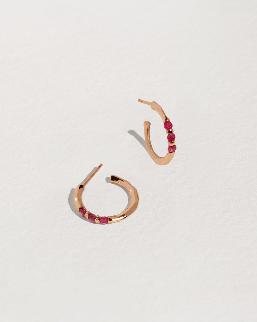 Multi Floating Stone Hoops