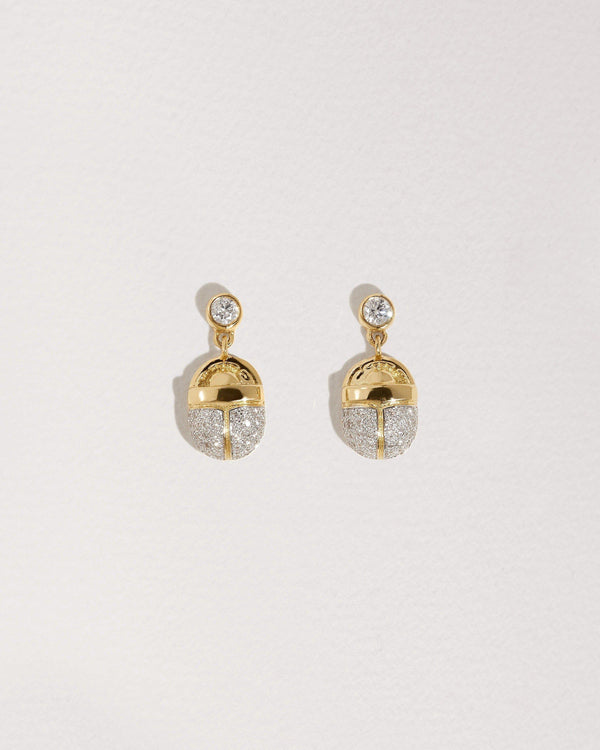 Pavé Scarab Drop Earrings