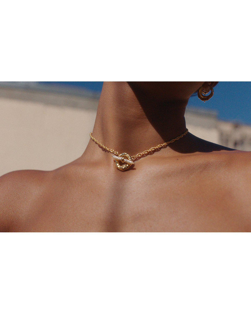 Jasmine Tookes toggle necklace by Pamela Love