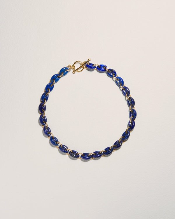 lapis link necklace