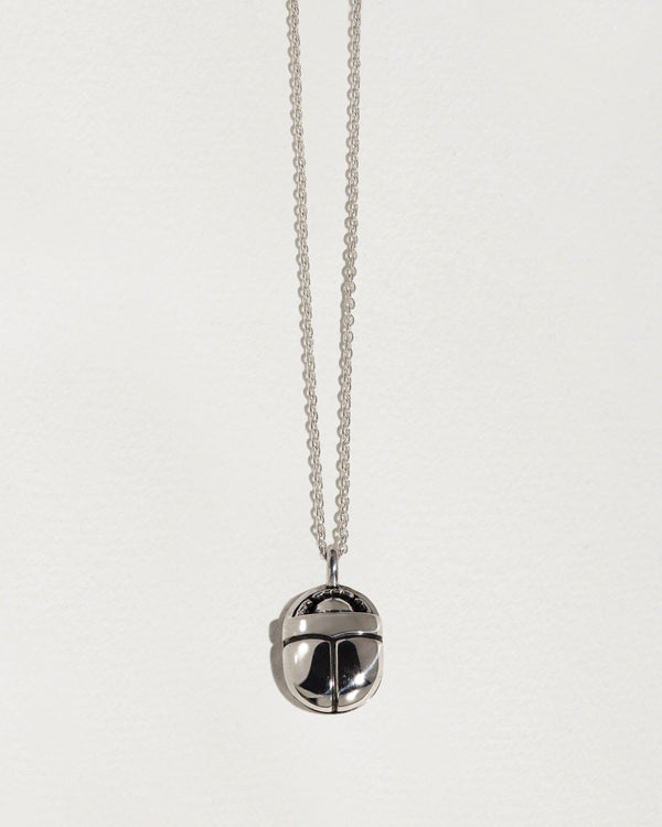 silver scarab necklace