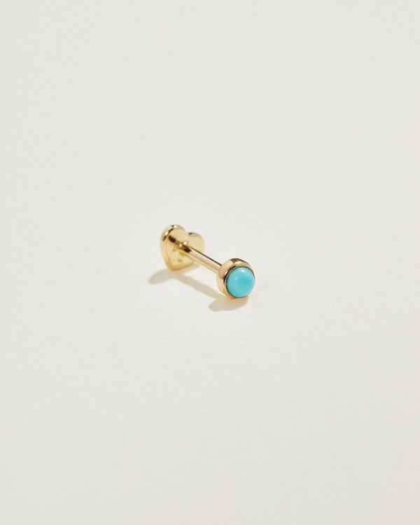 turquoise stud piercing