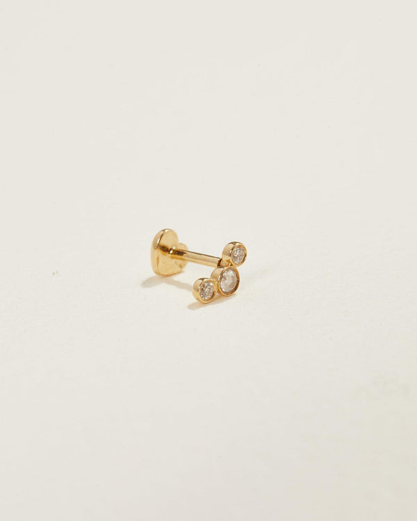 14k yellow gold studs