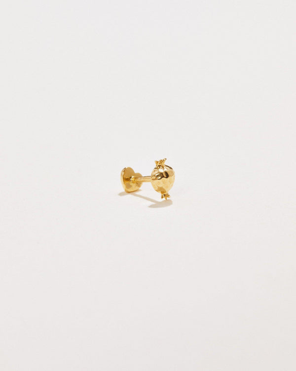 pomegranate piercing 14k yellow gold