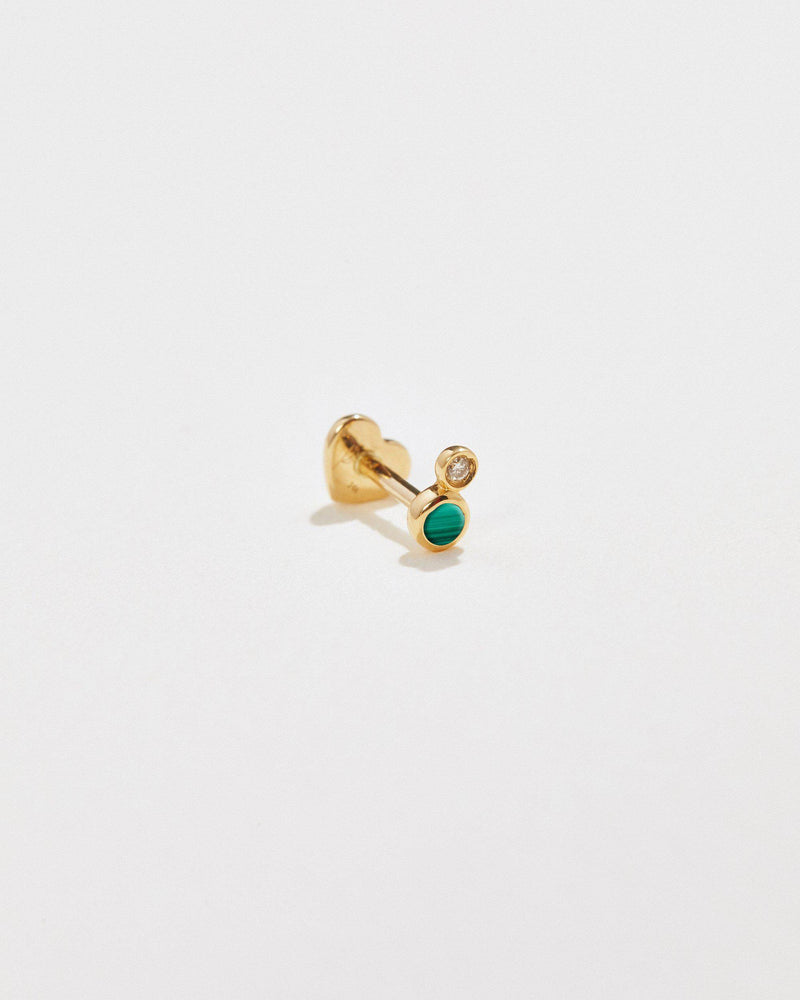 malachite stud piercing
