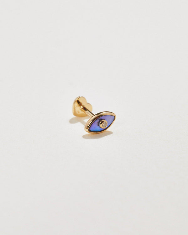abalone eye stud earring