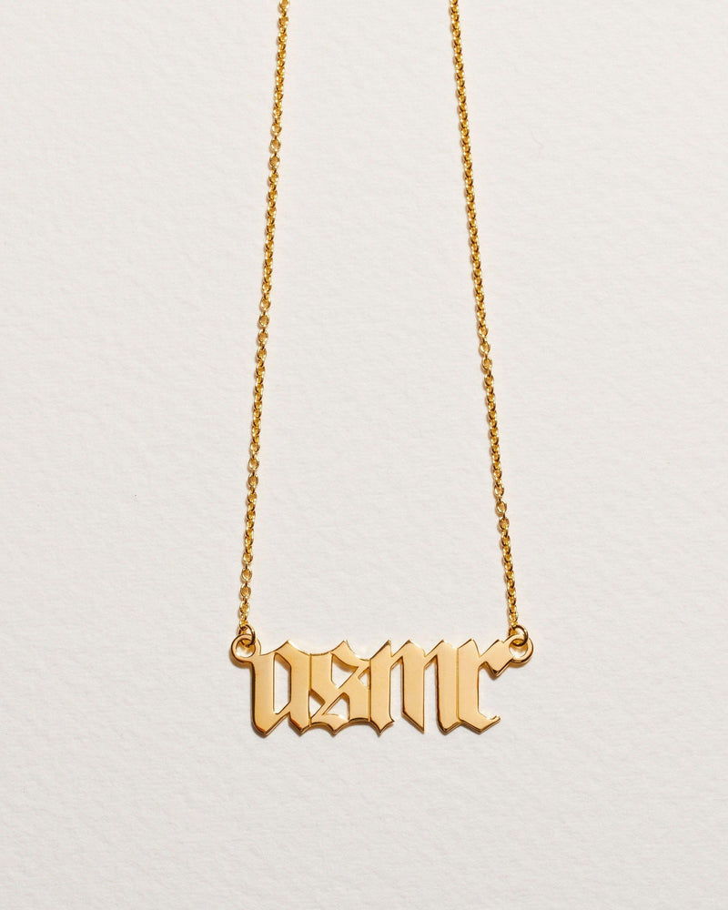 asmr necklace 14k gold plate over silver