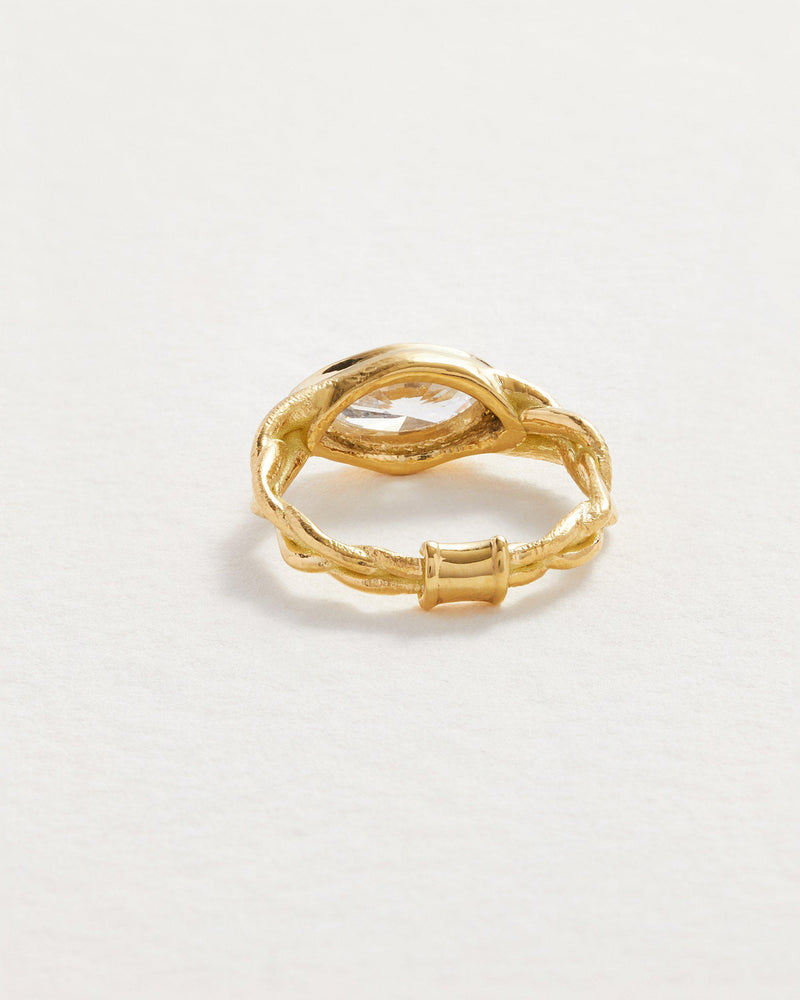 18k handmade gold wedding ring