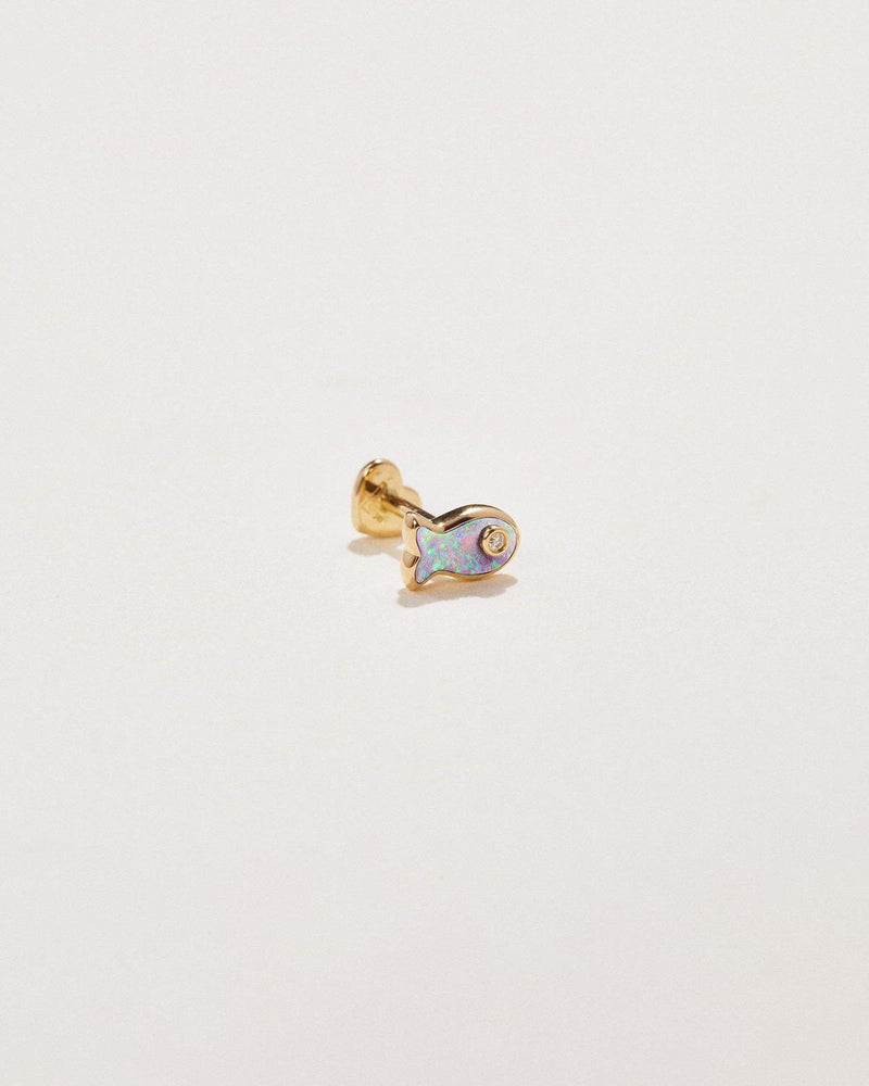 Fish Diamond Stud
