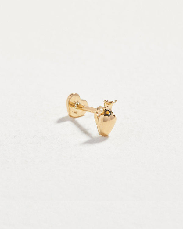 14k yellow gold vessel stud earring