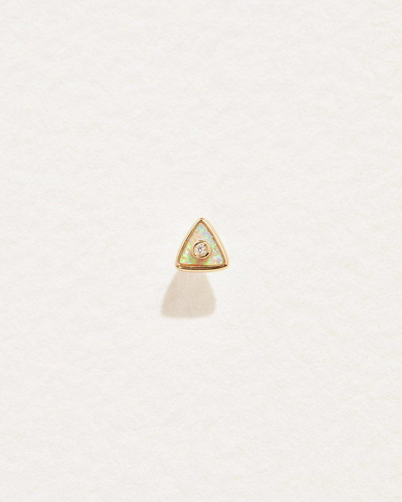 Triangle Diamond Stud