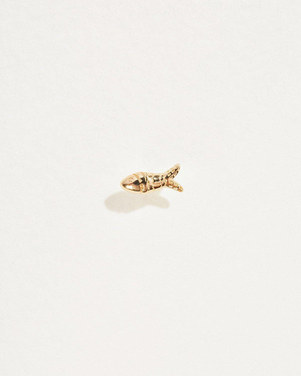 aegean stud piercing with 14k yellow gold