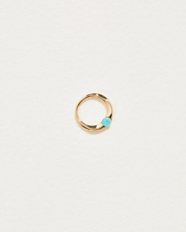 floating turquoise clicker piercing