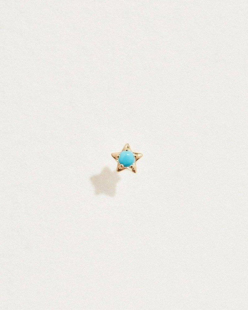 midnight star stud with turquoise