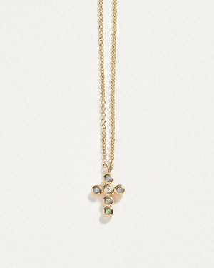 mini cross cluster pendant necklace