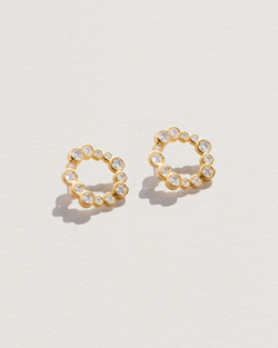Diamond Paillette Studs