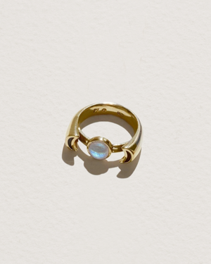 luna ring with moonstone