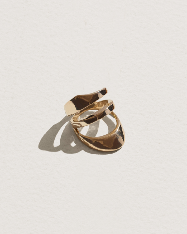 large agnes ring with brass