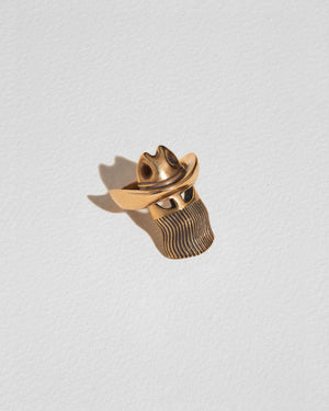 orville peck ring with brass