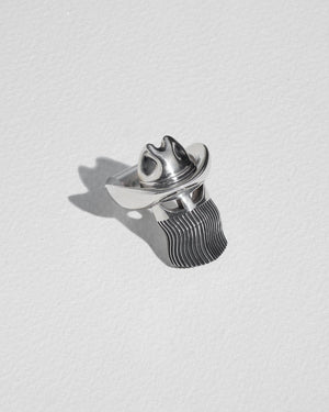 orville peck ring large with sterling silver