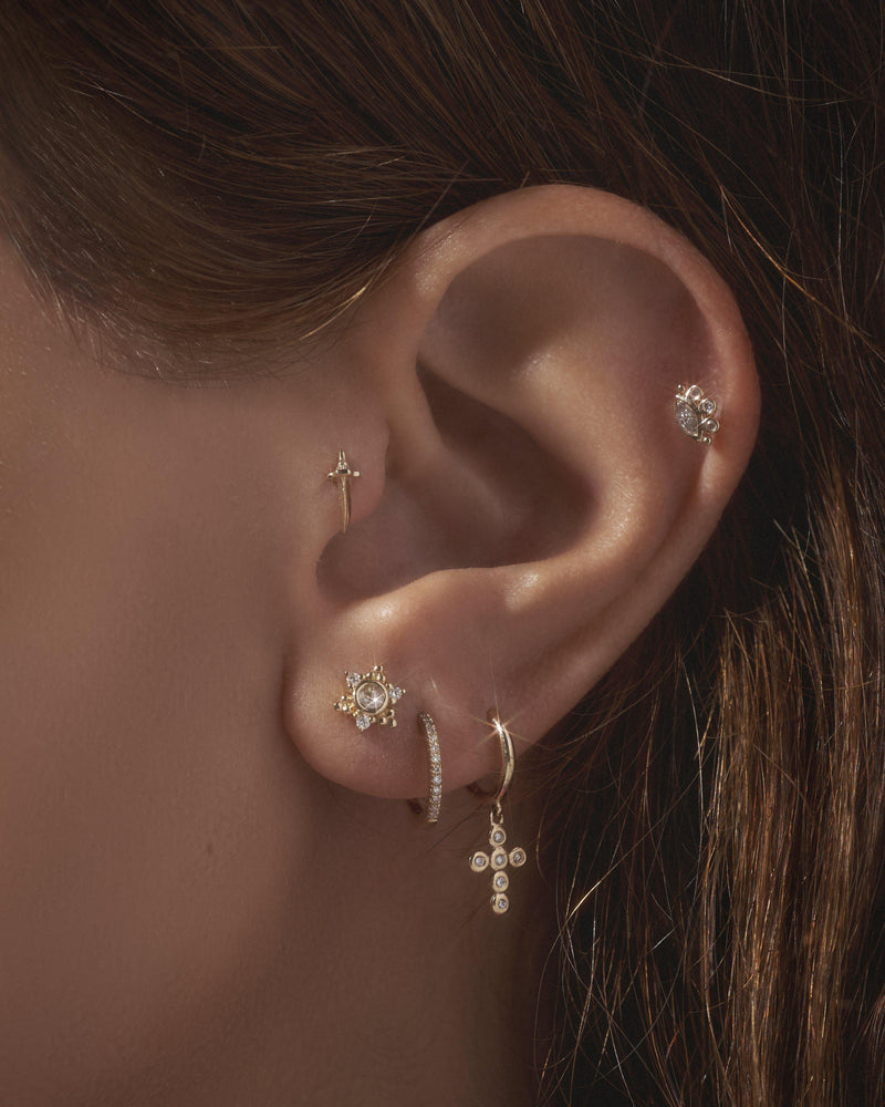 diamond stud piercings by pamela love
