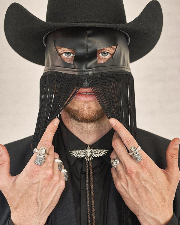 orville peck with pamela love rings