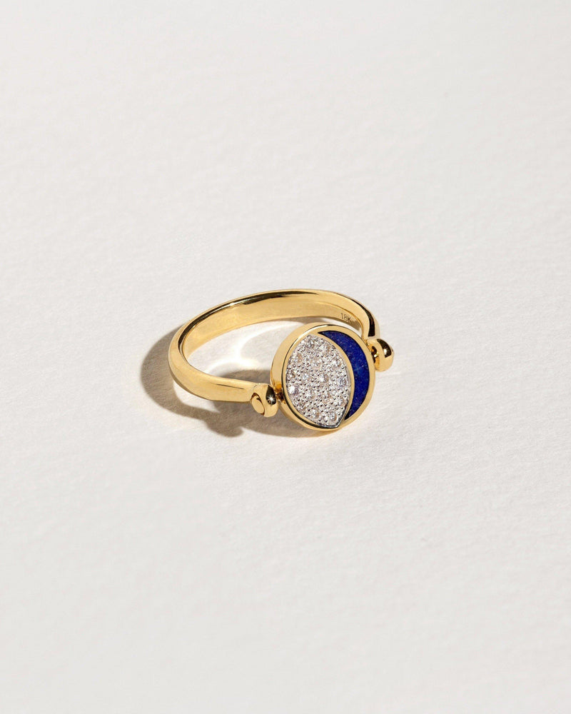 Reversible Inlay Moon Phase Ring