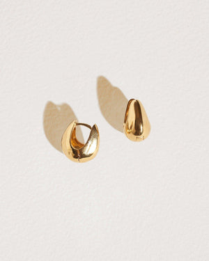 gold hammered hoops