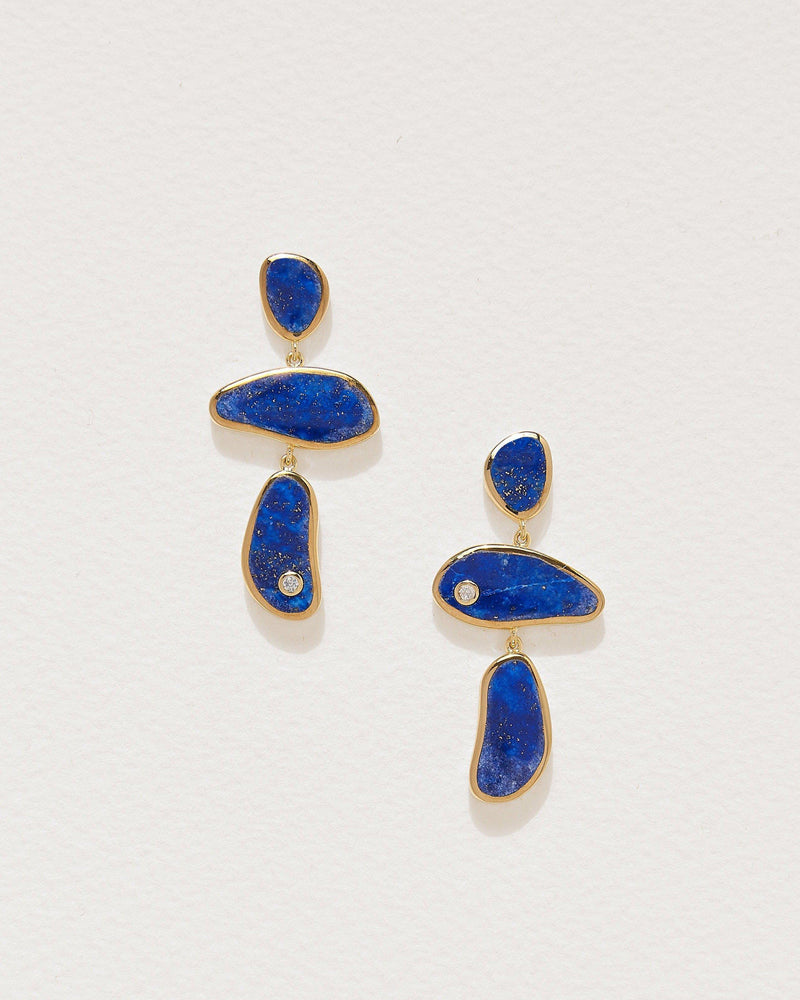 francesca drop earrings with lapis lazuli
