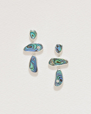 silver francesca drop earrings with abalone
