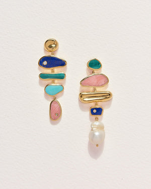 palma earrings with multiple stones