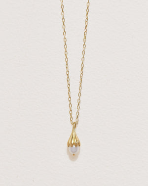 anemone pearl pendant necklace