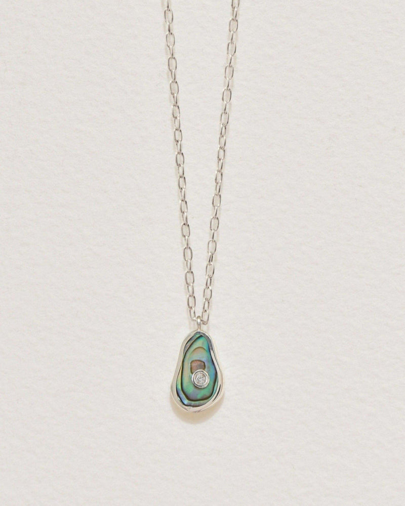 pilar II pendant with abalone and silver