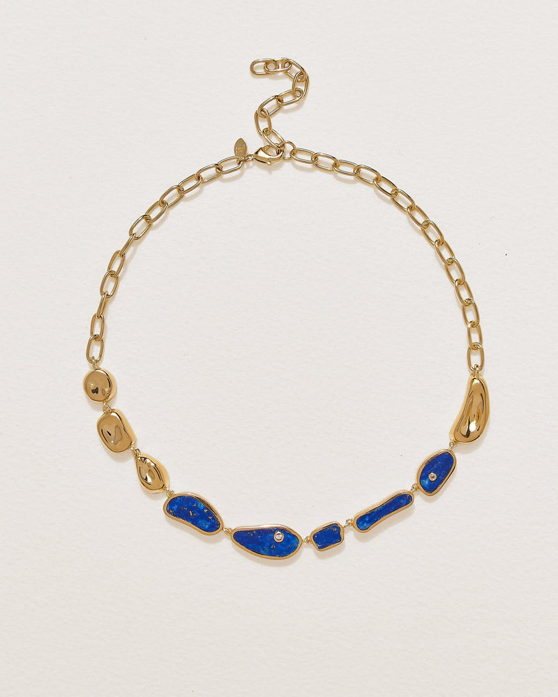 hilma collar necklace with lapis lazuli